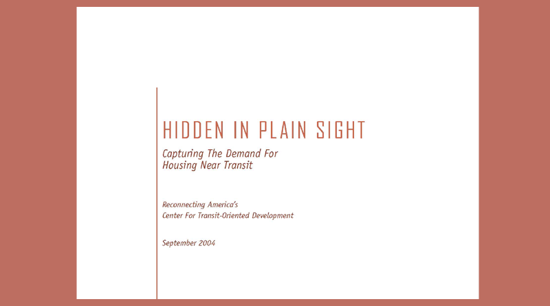 Hidden in Plain Sight: Capturing the Demand for Housing Near Transit