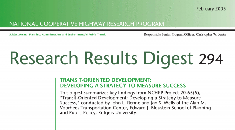 Transit-Oriented Development: Developing a Strategy to Measure Success