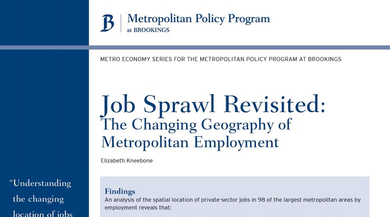 Job Sprawl Revisited: The Changing Geography of Metropolitan Employment