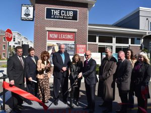Ribbon cutting for the renovated NJT Avenel Train Station Opening in October 2017. Source: Woodbridge Township