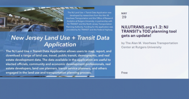 VTC and NJT to Host Planning Tool Webinar May 29