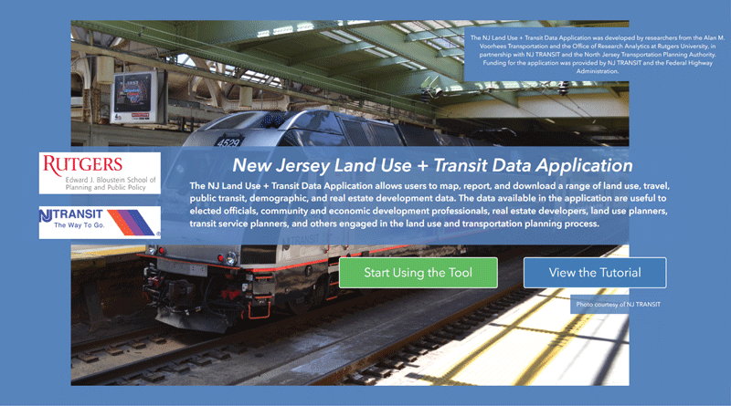 NJLUTRANS: A Planning Application for NJ TODs