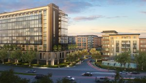An artistic rendering of the Gateway Crossings Project in Santa Clara, CA. Courtesy of Hunter Properties | Hunter Storm.