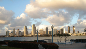 The City of San Diego as viewed from Coronado, CA. Image by user MARELBU, licensed by CC BY 3.0.