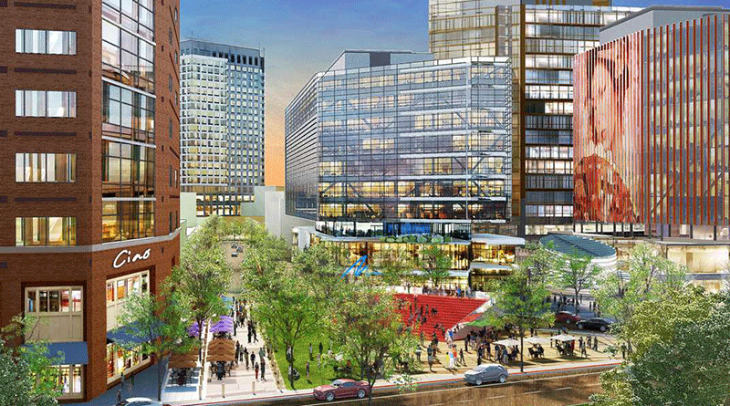 A conceptual rendering of The Hub at New Brunswick Station. Image courtesy of DEVCO.