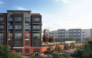 A rendering of the redevelopment project, Reva Rahway slated to begin leasing this October. Image courtesy of AST Development Corporation