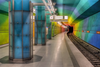 The Candidplatz U1 subway station in Munich, Germany. Image by user Syntaxys, licensed by CC BY-SA 3.0.