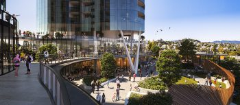 Design concept for the Albion Exchange development project in Brisbane, AU. Image courtesy of Hames Sharley.