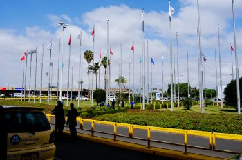 Jomo Kenyatta International Airport, locally known as JKIA is located in Nairobi, Kenya.