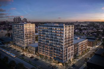 Rendering of the West Side Square development project in Jersey City. Image courtesy of Marchetto Higgins Stieve.
