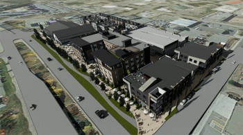 Rendering of the Silverthorne redevelopment project, 4th Street Crossing. Image courtesy of Milender White.