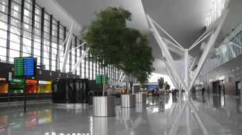 Passenger terminal at Gdańsk Airport, Poland