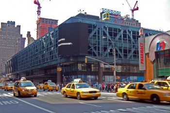 Port Authority's bus terminal in midtown Manhattan, NY. Image by user Rob Young, licensed by CC BY 2.0.
