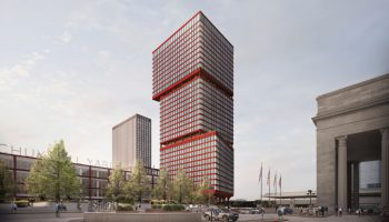 Artistic rendering of the JFK Towers in Schuylkill Yards. Image courtesy of The Practice for Architecture and Urbanism.