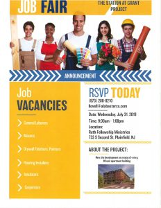 Plainfield job fair flyer