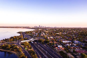 Perth, Australia by Josh Spires on Unsplash. Available in the public domain.