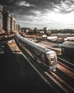 SkyTrain, Vancouver, Canada by Mado El Khouly on Unsplash. Available on the public domain.