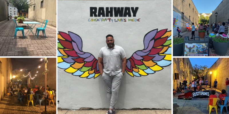 The Rahway Paseo. Photos courtesy of Amy Garcia Phillips | Rahway Arts + Business Partnership.