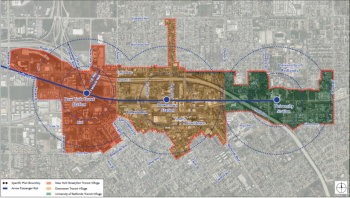 Redlands Transit Village Plan courtesy of the City of Redlands