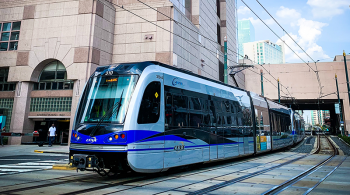 Uptown Tram in Charlotte. Photo by Frankie Lopez on Unsplash.