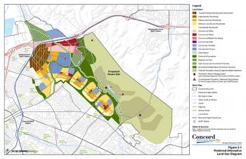 Concord Community Reuse Plan. Preferred Alternative Land Use Diagram.