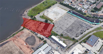 The 2.32-acre parcel at 219 West 5th Street in Bayonne sold for $4.55M in August. Image via Google Maps.