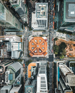 Aerial view of an urban district in Singapore by Fahrul Azmi on Unsplash