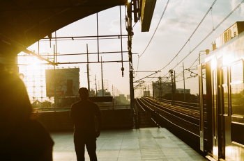 Train leaving the Recto Station of the LRT2 line in Manila, Philippines. Photo by Mara Rivera on Unsplash