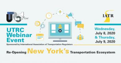 UTRC Webinar Series:Re-Opening New York's Transportation Ecosystem (7/8/20-7/9/20)