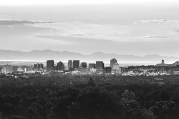 The skyline in Salt Lake City, UT by Brandon Green on Unsplash