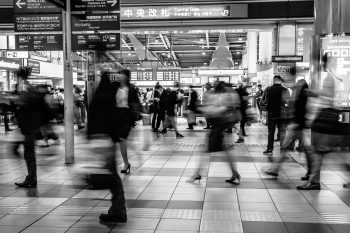 A busy train station in Minato, Japan by Karen Lau on Unsplash
