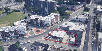 Proposed project at 18 Hoyt Street in the University Heights section of Newark's Central Ward. Image via Google Maps.