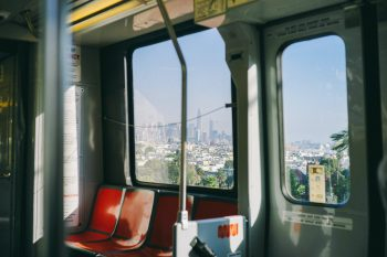 BART Train in Mission Dolores Park, CA by Josh Wilburne on Unsplash