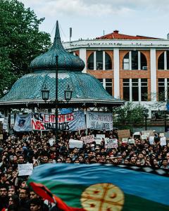 A crowd protesting in Chile, 2019. Photo by Sebastián Navarro on Unsplash