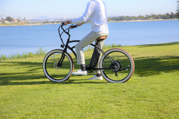 A cyclist on an electric bike in San Diego, CA by Tower Electric Bikes on Unsplash