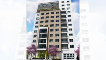 Rendering of the proposed 77-unit building. Palermo Edwards Architecture