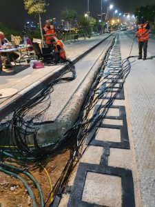 Electric road construction 3. Tel Aviv-Yafo Municipality