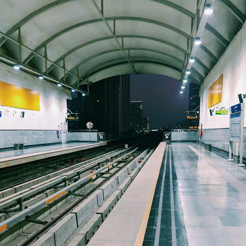 "Metro Station, Delhi, India. <span>Photo by <a href=""https://unsplash.com/@kkarrran?utm_source=unsplash&utm_medium=referral&utm_content=creditCopyText"">Karan Sharma</a> on <a href=""https://unsplash.com/?utm_source=unsplash&utm_medium=referral&utm_content=creditCopyText"">Unsplash</a></span>"