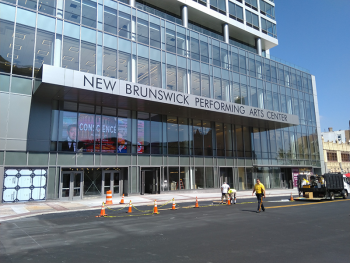 The recently completed New Brunswick Performing Arts Center (August 2019)