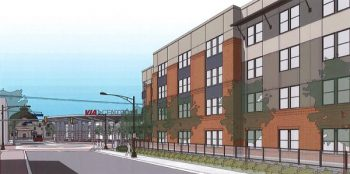 Rendering of Cattleman Square Lofts, 811 W Houston Street, San Antonio, Texas. Courtesy of Alamo Community Group | Sage Group