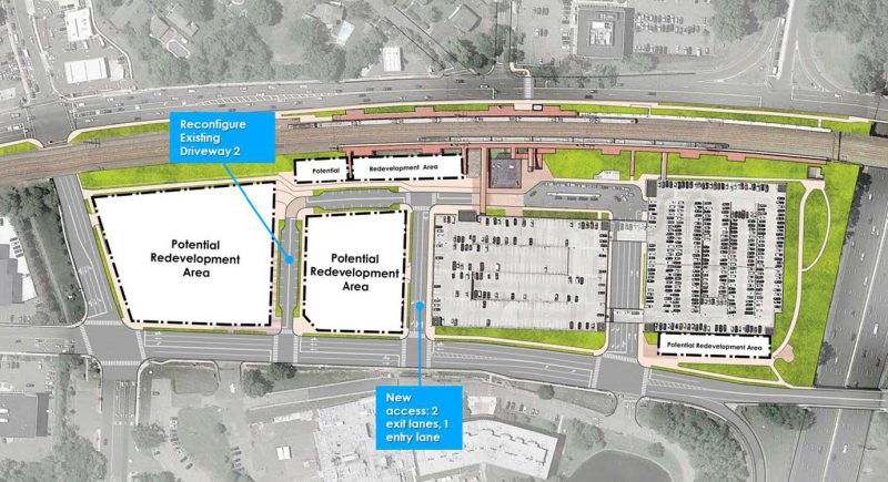 Overall Site Concept for Metropark redevelopment. Source: Metropark Station Transit Oriented Development Access and Circulation Plan (2020)
