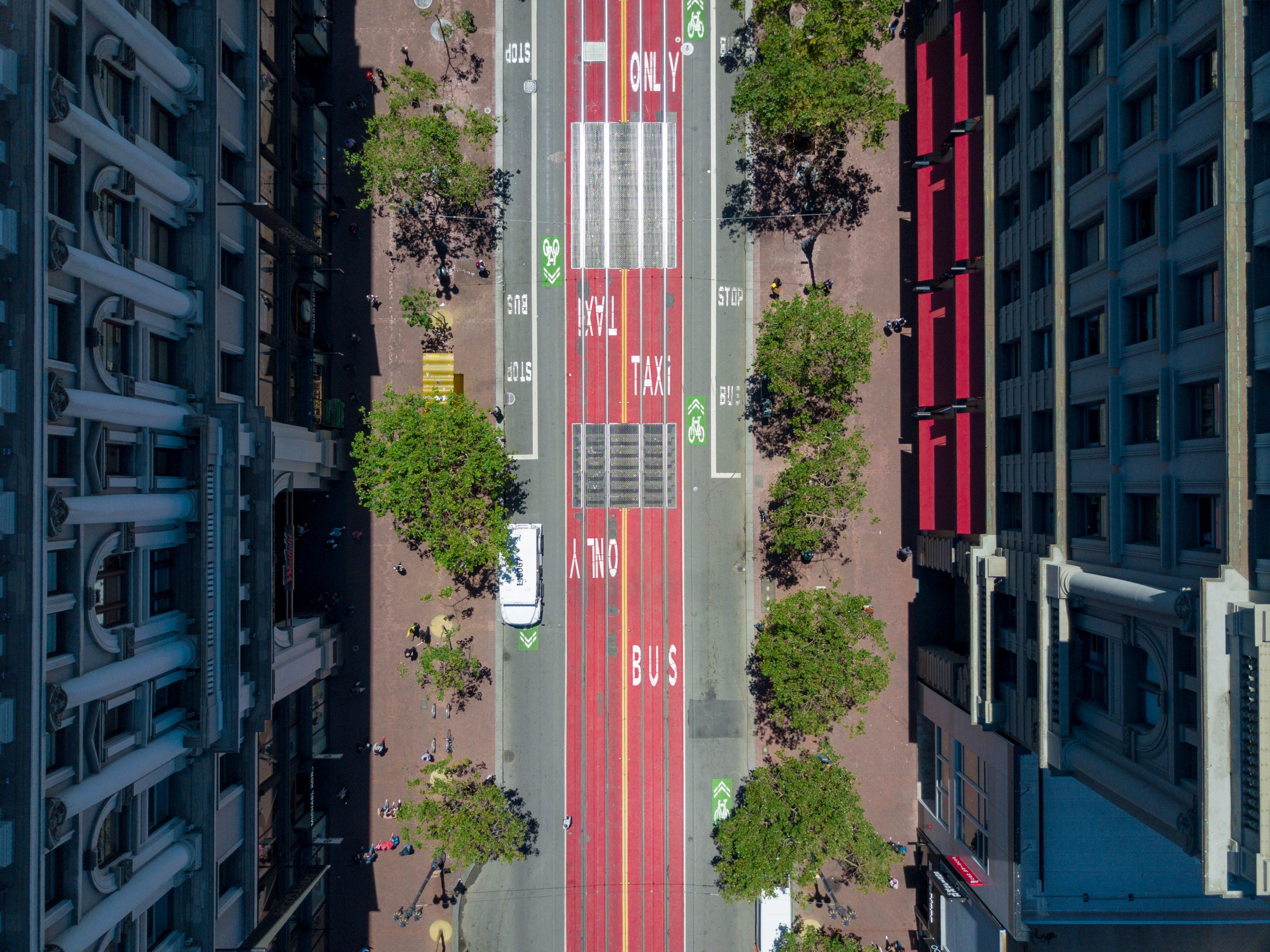 aerial photography of streets