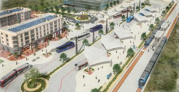 Rendering of new and expanded bus service, Austin, Texas. Courtesy of Capital Metropolitan Transportation Authority