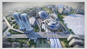Rendering for New Delhi Station area.