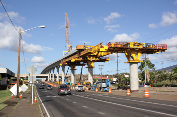 Construction for the Honolulu Rail Transit Project (2015). Photo by Musashi1600 - Own work, CC BY 3.0 US
