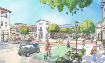 Rendering of the Village South Specific Plan (Courtesy of Claremont and Sargent Town Planning)