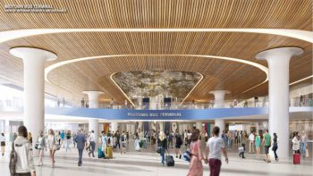 Interior rendering of the Port Authority Bus Terminal. Courtesy of the Port Authority of New York and New Jersey