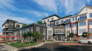 A rendering of The Lofts at Wesmont Station — Rendering by Minno & Wasko Architects and Planners/Courtesy: Scarinci Hollenbeck