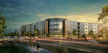 Rendering of proposed development at former Black Prince Distillery site, Clifton, New Jersey. Courtesy of Lessard Design