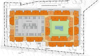 Site plan for The Flats. Michael Sudol/Town of Chapel Hill, North Carolina